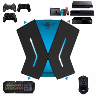 Spirit of Gamer Egér/Billentyűzet adapter konzolokhoz - SOG-CONV1 (3x USB-A, 2x USB-C, Nintendo/PS4/PS3/Xbox One) PC