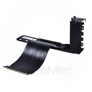 DeepCool PCI-E Riser kábel - PAB 300 (20cm kábel, 90 fokos konzol) PC
