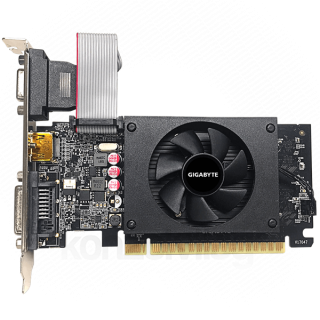 Gigabyte Videókártya - nVidia GT710 (2048MB GDDR5, 64bit, 954/5010MHz, VGA, DVI, HDMI, Single Slot, Low Profile) PC