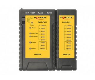 LAN Delock 86407 RJ45 - RJ12 kábel tesztelő + Portkereső PC