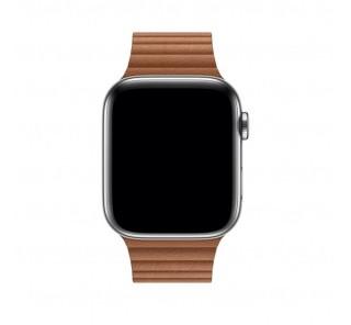 Apple Watch 42/44mm bőr szíj, M méretű, vöröses barna Több platform