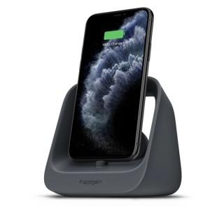 Spigen S316 2in1 Apple iPhone és Apple Watch töltő állvány, fekete Több platform