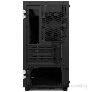 NZXT H400 Fekete-Fehér (Táp nélküli) ablakos mATX ház PC