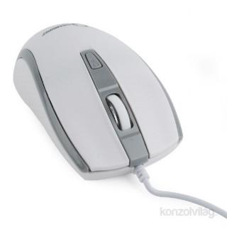 Gembird MUS-104-WGR optikai USB fehér egér PC