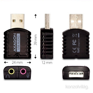Axagon ADA-10 USB stereo audio adapter PC