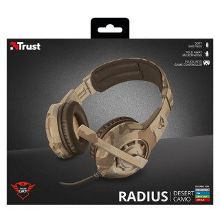 Trust GXT 310D Radius desert camo gamer headset PC