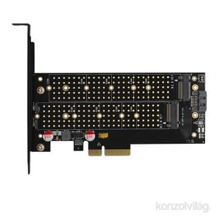 Axagon PCEM2-DC PCI-Express - NVME+NGFF M.2 hűtővel ellátott adapter PC