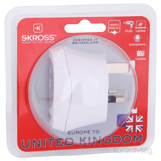 Skross EUTOUK UK adapter csatlakozóaljzat PC
