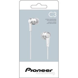 Pioneer SE-C3T-W fehér mikrofonos fülhallgató PC - akciós ár ... fd18670cfe