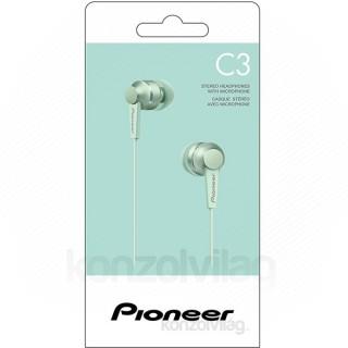 Pioneer SE-C3T-GR zöld mikrofonos fülhallgató PC - akciós ár ... 7e1653aeb6