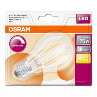 Osram Superstar Filament 8,5 W/827 75 E27 1055 lumen LED körte izzó PC