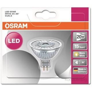 Osram Star MR16 2,9 W/827 20 36° GU5.3 230 lumen LED spot izzó PC