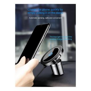 Baseus Big Ears QI fekete vezeték nélküli autós tartó és töltő Mobil