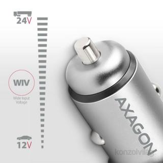 Axagon PWC-5V4 2.4A + 2.4A ezüst autós töltő Mobil