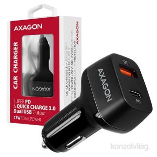 Axagon PWC-PDQ QC3.0 + USB-C fekete autós töltő Mobil