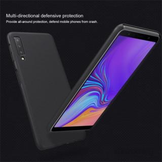 Nillkin NL167117 Frosted Samsung A7 2018 fekete hátlap képernyővédő fóliával PC
