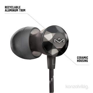 Marley EM-FE033-HM Nesta metál/fekete mikrofonos fülhallgató PC