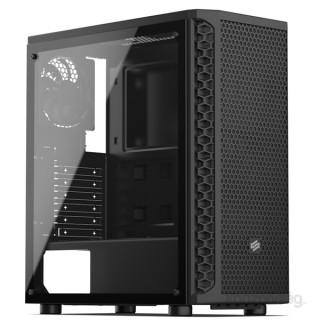 SilentiumPC Signum SG1 TG Fekete (Táp nélküli) ablakos ATX ház PC