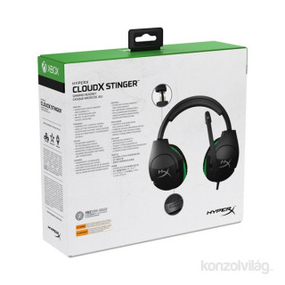 HyperX CloudX Stinger (Xbox Licensed) Fekete 3,5 Jack gamer headset (HX-HSCSX-BK/WW) Több platform