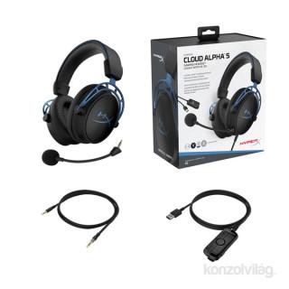HyperX Cloud Alpha S fekete-kék Gamer headset (HX-HSCAS-BL/WW) Több platform