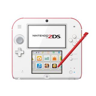 Nintendo 2DS (Fehér és Piros) + New Super Mario Bros. 2 3DS