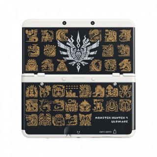 New Nintendo 3DS Cover Plate (Monster Hunter 4 mintázatú, fekete) (Borító) 3DS