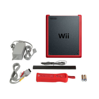 Nintendo Wii Mini (Piros) + Mario Kart Bundle Wii