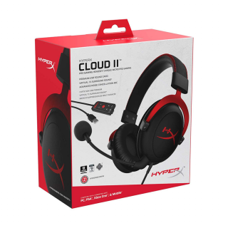 HyperX Cloud II Pro Gaming Headset (Red) KHX-HSCP-RD Több platform