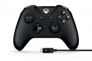 Xbox One Vezeték nélküli Kontroller (Fekete) + Kábel Windows rendszerekhez Több platform