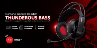 ASUS Cerberus Gamer Fekete Headset Több platform