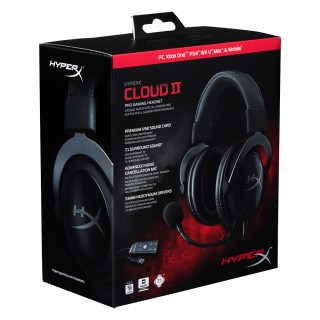 HyperX Cloud II Pro Gaming Headset (Gun Metal) KHX-HSCP-GM Több platform