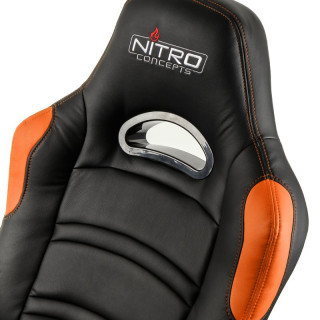 Nitro Concepts C80 Comfort Fekete-Narancs Gamer Szék (NC-C80C-BO) PC