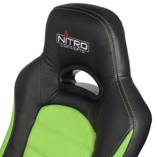 Nitro Concepts C80 Pure Fekete-Green Gamer Szék (NC-C80P-BG) PC