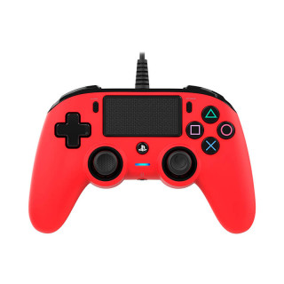 Playstation 4 (PS4) Wired Compact Kontroller Piros (Nacon) PS4