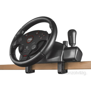 Trust 20293 GXT288 Force Vibration Steering Wheel PC/PS3 gamer kormány + pedál PC