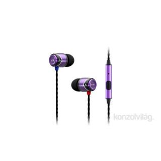 SoundMAGIC SM-E10S-04 E10S lila-fekete mikrofonos fülhallgató PC
