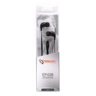 Sbox EP-038B fekete mikrofonos fülhallgató PC