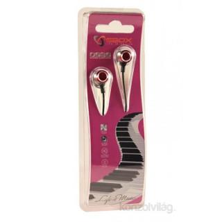 Sbox 0926P pink fém házu fülhallgató PC