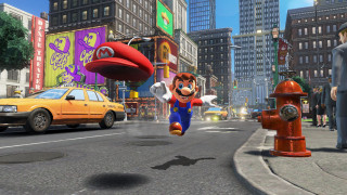 Nintendo Switch Red + Super Mario Odyssey Nintendo Switch
