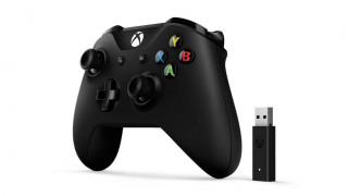 Xbox One Vezeték nélküli Kontroller (Fekete) + Adapter Windows 10 rendszerekhez Xbox One