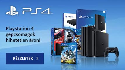 Playstation 4 gépcsomagok hihetetlen áron!