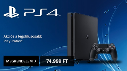 PlayStation 4 Slim 500GB, most 74.999 Ft-ért!