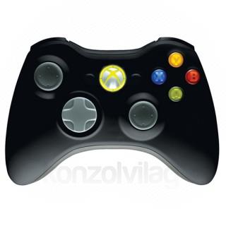 Xbox 360 Vezeték nélküli Kontroller (Fekete) XBOX 360