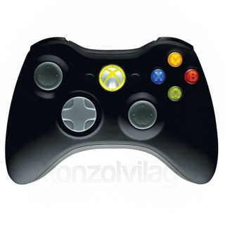 Xbox 360 Vezeték nélküli Kontroller (Fekete)