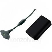 Xbox 360 Play and Charge Kit (Fekete) (akkumulátor szett) XBOX 360