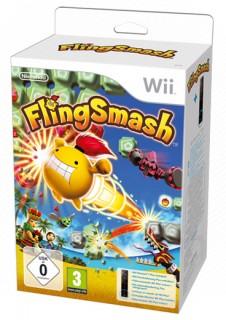 Wii Remote Plus (fekete) + FlingSmash Wii