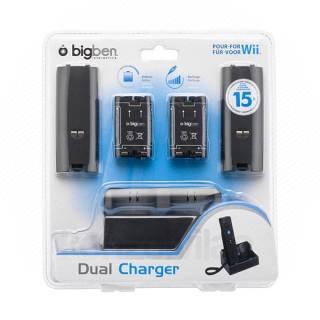 Wii és Wii U Dual Charger (Akkumulátor szett)