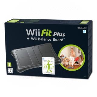 Wii Fit - Wii Fit Plus szoftverrel (Fekete) Wii